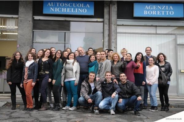 Foto di un gruppo di allievi